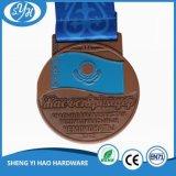 Moderner Entwurfs-Fahrrad-Form-Decklack Sports Medaille für Kinder