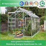 Invernadero de aluminio del jardín del marco de la hoja del policarbonato