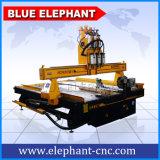 Machine de découpage en bois de modèle d'Ele 2030, machine en bois de commande numérique par ordinateur de 4 axes pour les métiers en bois, présidences