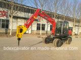 Construção da tecnologia da operação de martelo quebrado na máquina escavadora pequena de Baoding