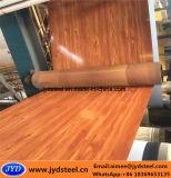 Bobina d'acciaio di legno del reticolo PPGI con la pellicola protettiva di plastica