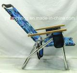 Im Freien kampierender Stuhl-faltender Strand-Aluminiumstuhl mit Woodarmrests