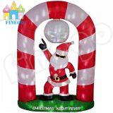 Aufblasbares Weihnachtsmann-Haus-Spielzeug-System für Weihnachtsdekoration