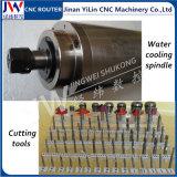 Máquina de gravura do CNC da fonte da fábrica de Jinan para o Woodworking de madeira de madeira da porta