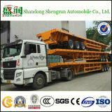 De la Chine 3 de l'essieu 40FT de lit plat de conteneur remorque semi à vendre