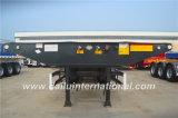 3 des essieux 20FT de col de cygne de squelette remorque noire semi sur la promotion