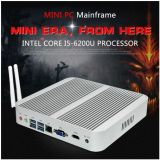 USB WiFi Bluetooth do VGA HDMI do PC 4k Windows 10 do PC I7 6500u Intel HD 520 Barebone de Fanless mini