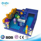 Combinato gonfiabile del Fumetto-Carattere di Amusementpark del Bouncer e del giocattolo LG9025 della trasparenza