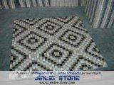 Mosaico di pietra di marmo naturale bianco per la cucina della decorazione della parete interna