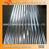 A fonte quente/laminou a bobina galvanizada mergulhada quente do material de construção corrugada telhando a placa de aço do metal