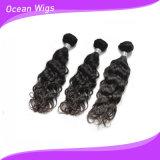 Выдвижения волос Remy девственницы человеческие волосы 100% волны людского бразильского итальянские (W-024)