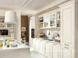 Weißer Lack-festes Holz Blum Marken-Befestigungsteil-Küche-Schrank