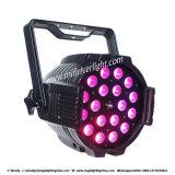 IGUALDAD de la colada LED del zoom 6in1 de la iluminación 18PCS*15W Rgbwauv de la etapa del LED