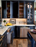 Gabinete de cozinha em madeira maciça Bar de madeira de luxo