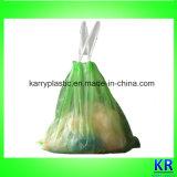 Пластичный мешок отброса HDPE мешков несущей с Drawtape