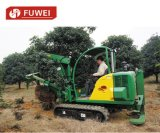 Furo da árvore da roda ou da esteira rolante de Fuwei 26HP carregador Digger do Backhoe do mini
