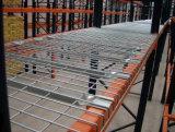 Decking soldado almacenaje del alambre del metal para el estante de la paleta