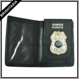 Metallo Badge Genuine Leather Wallet per Police (BYH-10022)