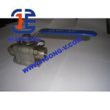 Valvola a sfera saldata 3PC forgiata ad alta pressione dell'acciaio di API/JIS/DIN