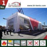 De dubbele Tent van de Markttent van de Structuur van het Dek met de Muren van het Glas voor Tentoonstelling