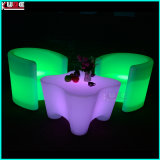 Mobília de bar LED Outdoor Bar Stool LED Cube Chair