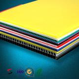 "листы 24 "" X18 "" Corrugated пластичного пустого знака 4mm белые желтые"