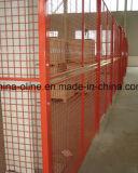 Покрынная PVC сваренная панель загородки ячеистой сети