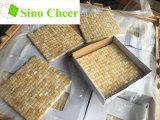 Azulejos de mosaico amarillos del mármol de Onyx de la miel del cubo 3D