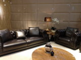 Jogo do sofá do couro da mobília da sala de visitas