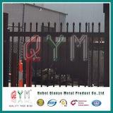 Le fer travaillé de frontière de sécurité de piquet de soudure aiment la vente chaude de frontières de sécurité de lance