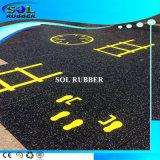 Pavimentazione di gomma di ginnastica speciale assorbente di marchio di effetto