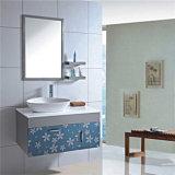 高品質の壁のミラーが付いている鋼鉄ペースの浴室用キャビネット