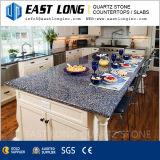 Bancada contínua Polished de mármore da pedra de quartzo de Suface para o projeto projetado/cozinha