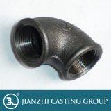 Schwarze mit einem Band versehene formbares Eisen-verlegte Rohrfittings UL-FM Galvannized 90 Grad-Krümmer