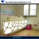 수부 사무실 책상 디자인 백색 사무용 가구 접수대