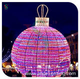 LED 3D Sphere Ball Shape Motif Light per Outdoor Decoration