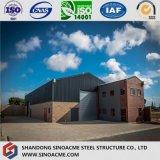 鉄骨構造の倉庫の構築