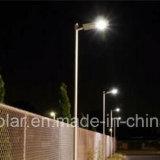 Système solaire extérieur solaire sec de réverbère de la lumière DEL de la qualité Integrated DEL