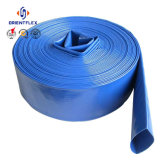 Boyau flexible plat bleu d'irrigation de l'eau étendu par PVC