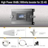 Alto repetidor móvil de la señal del teléfono celular del aumentador de presión de la señal de DCS 1800MHz del repetidor del aumento con la visualización del LCD