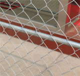 Recinzione provvisoria galvanizzata della rete metallica