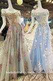 Голубые розовые мантии выпускного вечера отбортовывая платье вечера PA971 партии lhbim