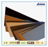 feuille décorative extérieure d'ACP de panneau de mur de panneau composé en aluminium de 4*0.3mm PVDF