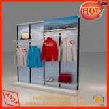 Madera estante de exhibición estante de la tienda de ropa