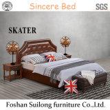 Американская кровать кожи кровати ткани типа A05