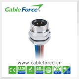 """7/8 """" Mini-Changent le connecteur mâle de support de panneau de 3 bornes avec le connecteur imperméable à l'eau de support arrière de contacts de carte"""
