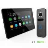 Interphone dello schermo di tocco 7 pollici di video telefono del portello di obbligazione domestica con la memoria