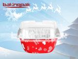 Glückliche Stunden-Aluminiumfolie-Quadrat-Pudding-Verpackung für Weihnachtsdas feiern