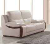 Sofá de couro real moderno da mobília a mais atrasada da sala de visitas