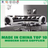 Modernes eindeutiges Kreis-Armlehnen-Wohnzimmer L Form-Sofa